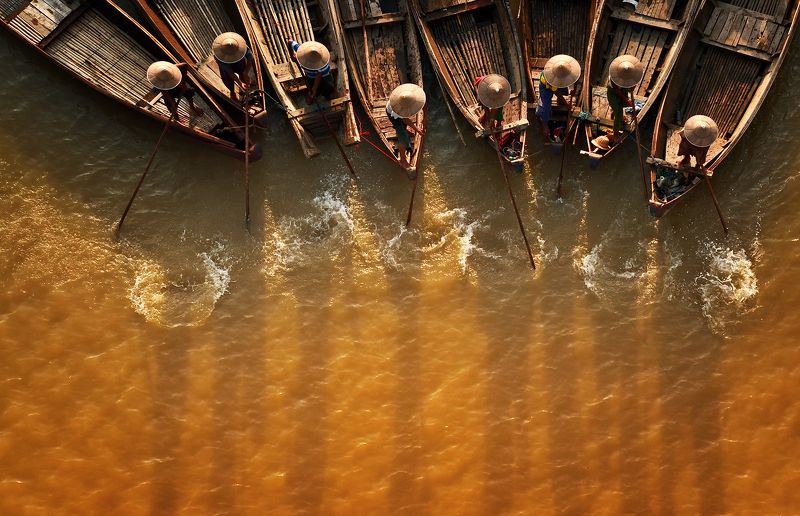 fisherman in Irrawaddy Riverphoto preview