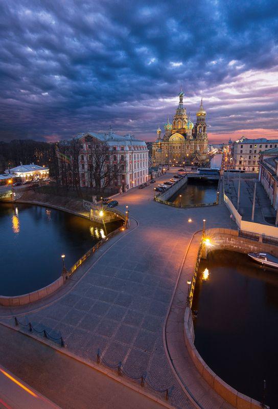 Санкт-Петербург, крыша, закат, церковь С Днём Рождения, Питер!photo preview
