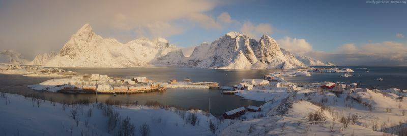 норвегия, лофотены, мосты Sakrisøyphoto preview