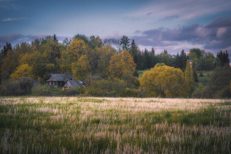 landscape,clouds,light,willage,spring,house,дом,деревня,пейзаж,весна,природа,хутор Латгалские вечераphoto preview