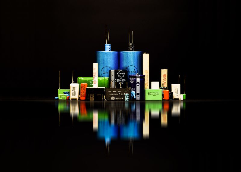 city, concept, art, color, reflections, night, citylights, skyline, abstract, capacitor, electricity, energy Electric-cityphoto preview