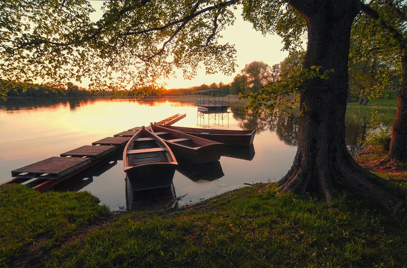 Evening melting in the silence of lakephoto preview