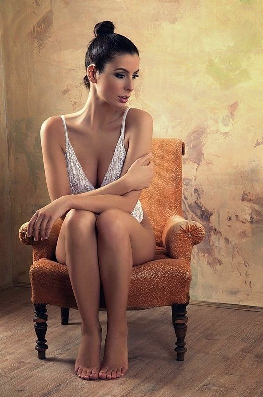 model, glamour, woman, female, color, body, sexy, sensual,  curves, portrait, erotica,  fine art, lingerie, legs, chair, beautiful, Yellow chairphoto preview