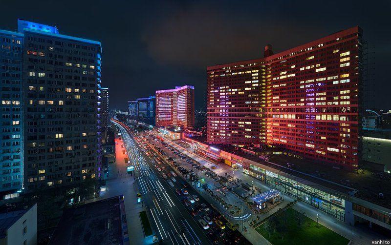 city, moscow, cityscape, landscape, night Арбатские книжкиphoto preview