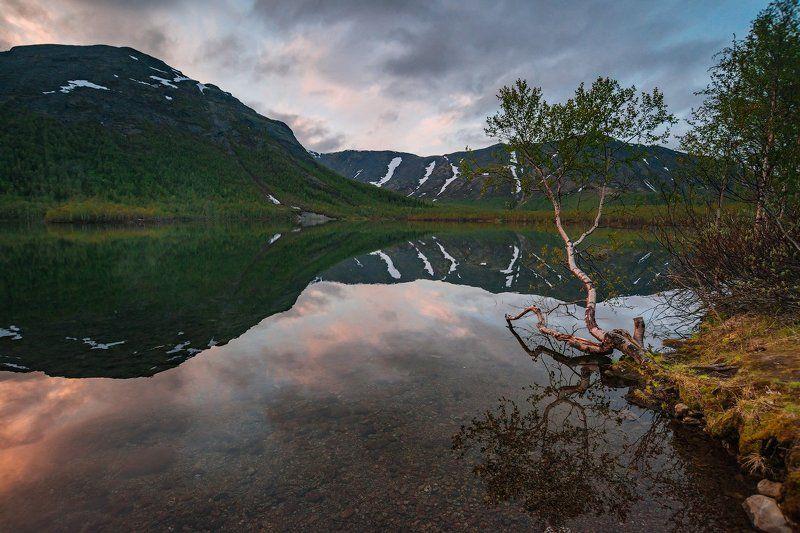хибины, лето, кольский, заполярье, север, ночь, полярный день, Хибинские белые ночи.photo preview