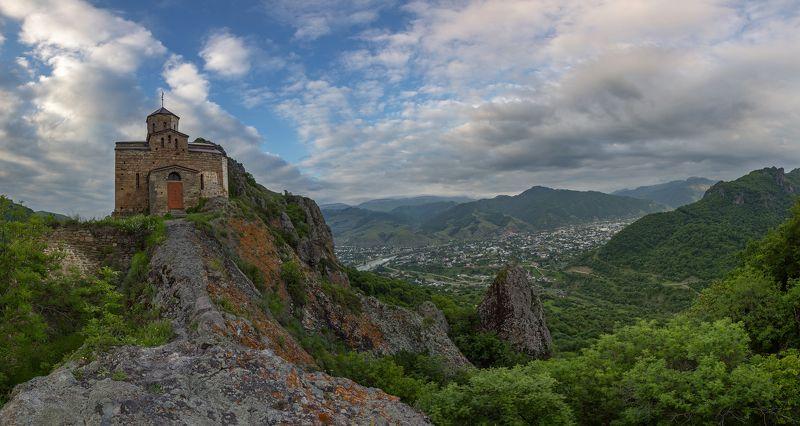 кчр,карачаево-черкесия,горы ,шоанинский храм,шоана,панорама Шоанинский храм ...photo preview