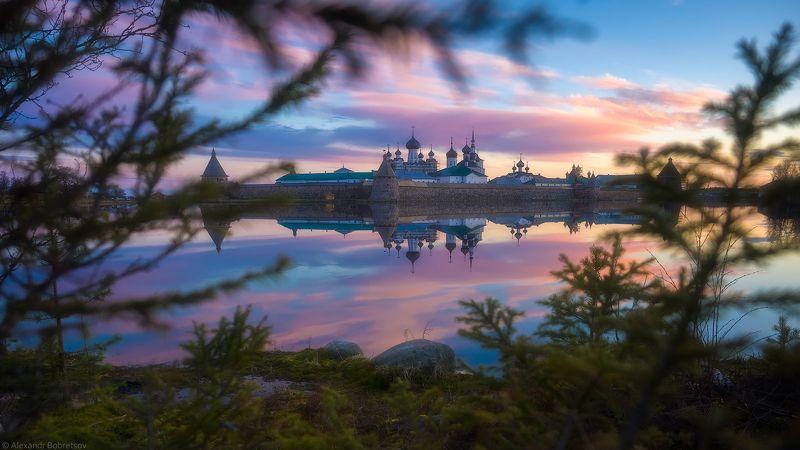 соловки, белые ночи, север, монастырь Соловецкие белые ночиphoto preview