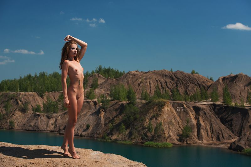 природа, вода, горы, небо, девушка, модель, фотосессия на природе, ню, ню фотосессия, ню на природе, фотографирую ню, фотосессия ***photo preview