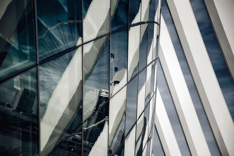 сингапур, город, отражение, абстракция Функцииphoto preview