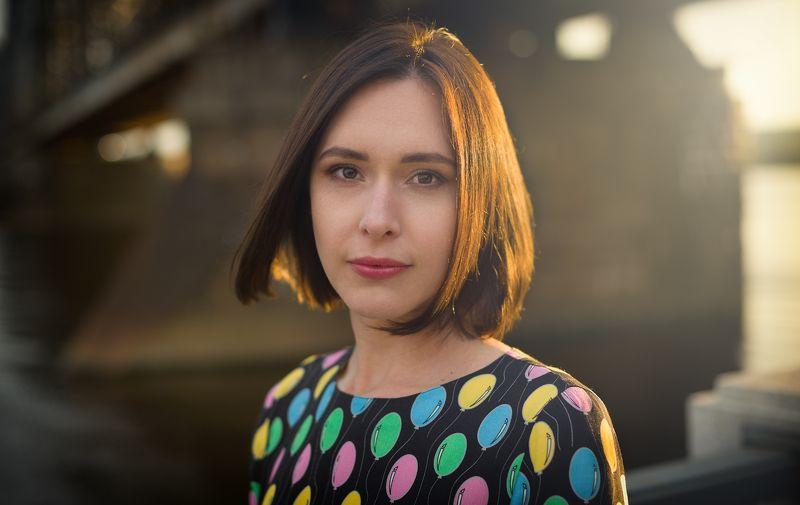 портрет рига девушка закат Аннаphoto preview