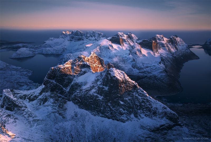 Lofoten Islands from the airplanephoto preview