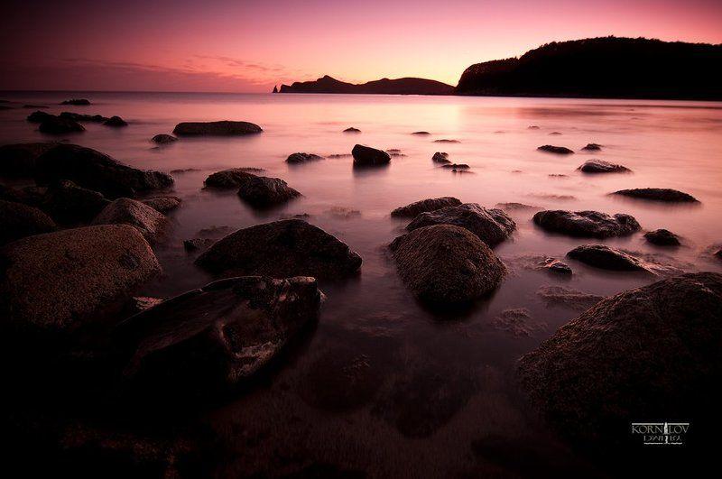 море, камни, бухта, валентин, приморский, край, северные, земли, дмитрий, корнилов, закат ***photo preview