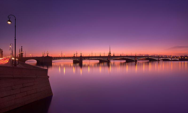 санкт-петербург, вечер, весна, троицкий, мост, закат Вечерний Петербург. Троицкий мост.photo preview