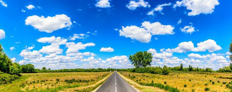 дорога, лето, небо, облака, путешествия Дорога в летоphoto preview