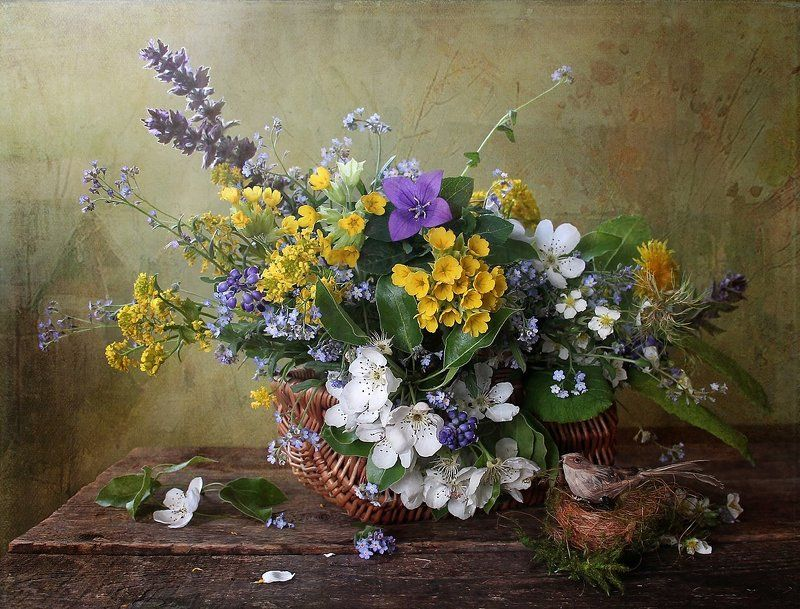 весна, цветы, первоцветы, натюрморт, марина филатова Деревенская историяphoto preview