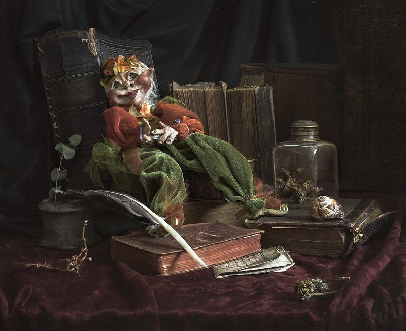 натюрморт, книги, still life, кукла Про одну симпатичную куклу....photo preview