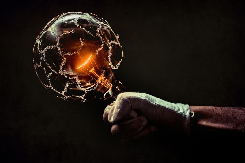 energy, light´s, hand, concept, bulb, lamp, orange, electricity,  Energyphoto preview