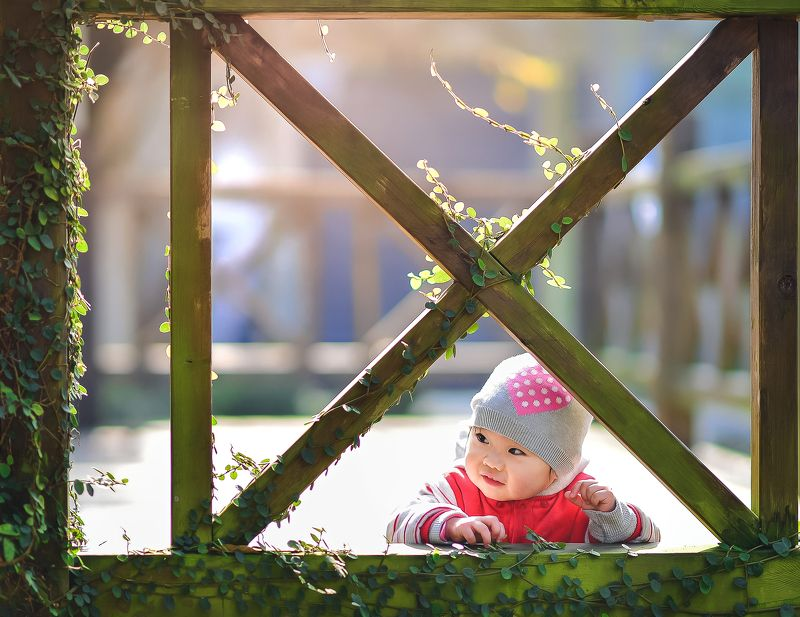 girl, kid, winter, natural light, childhood, outdoor winter gardenphoto preview
