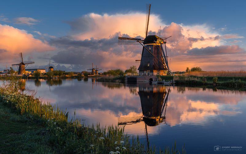 holland, kinderdijk, landscape, sunrise, рассвет, нидерланды Сказочный рассветphoto preview