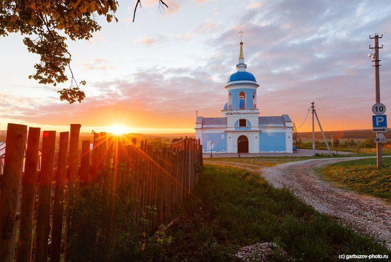 Свято - Казанский храм с.Першино рассветеphoto preview