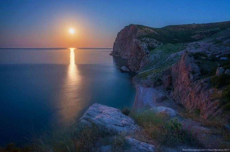 крым, море, чёрное море, балаклава, василева балка, луна, лунная дорожка, ночь, ночная фотосъемка Лунная ночь у Балаклавыphoto preview