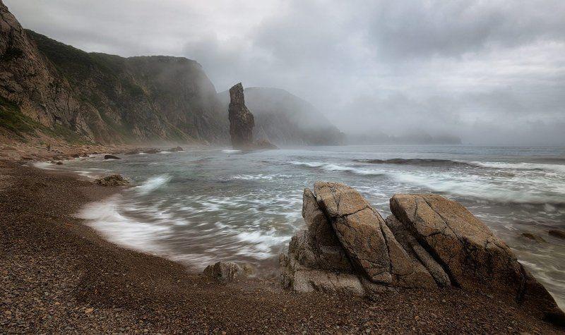 приморский край, море, солнце, рассвет, море, побережье Ежик в туманеphoto preview