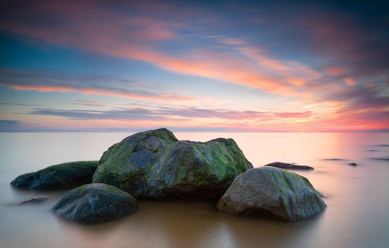 пейзаж море закат латвия рижский залив ***photo preview