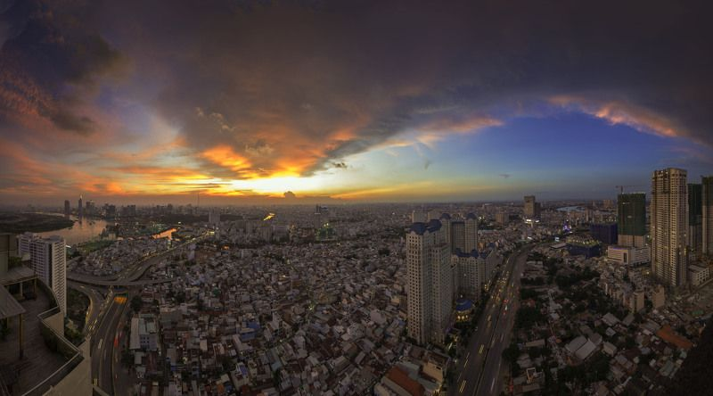 sài gòn việt nam Sunset Saigonphoto preview