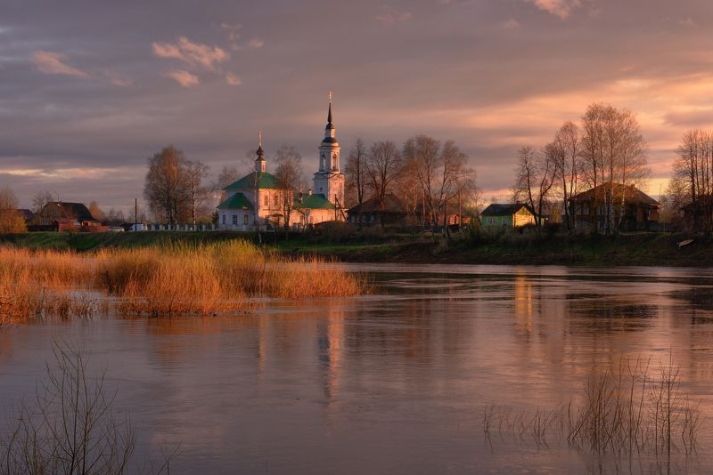 Вечер на реке Костромеphoto preview