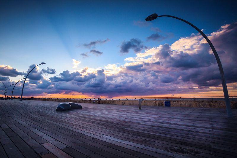sunset, tel-aviv, colors Colors of Tel-Avivphoto preview