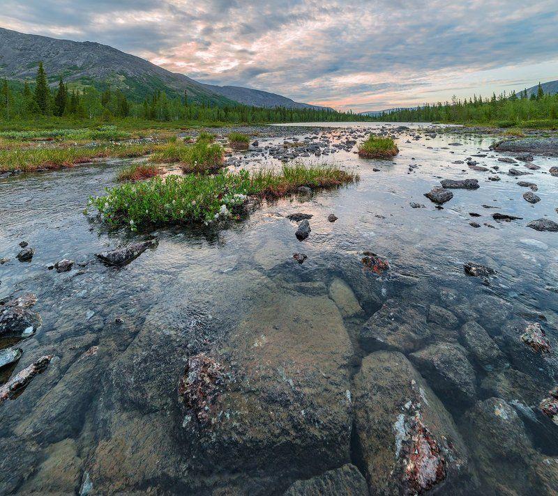 хибины, лето, кольский, заполярье, север, ночь, полярный день, Хибины.photo preview