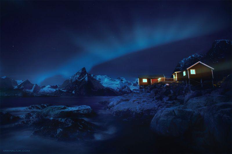 lofoten, at, night Lofoten at night *photo preview