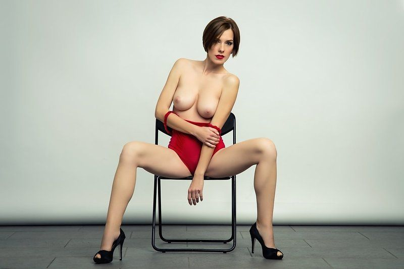 model, nude, naked, glamour, woman, female, color, body, sexy, sensual, curves, portrait, erotica, fine art, legs, red lips, fashion, Red bodyphoto preview