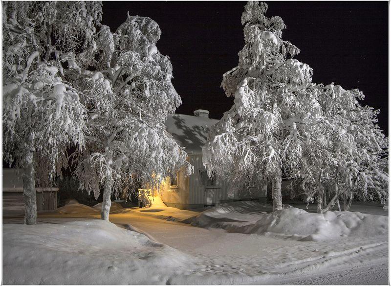 Зимняя вечерняя тихаяphoto preview