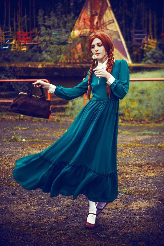 woman, portrait, natural light, retro, beauty, dress, abandoned Make A Wishphoto preview