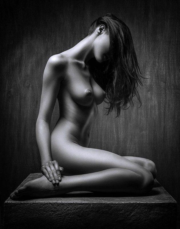 nude, woman, monochrome, body, sensuality, femininity, sexuality photo preview
