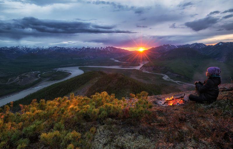 ингидирка, якутия, хонуу Якутия. Разгар полярной ночи.photo preview