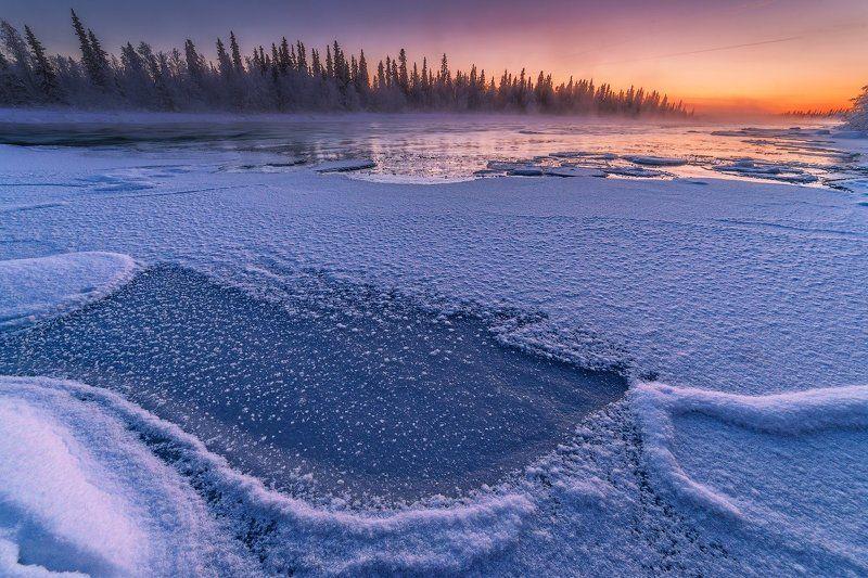 кольский, север,заполярье, умба, река, Умба в декабре.photo preview