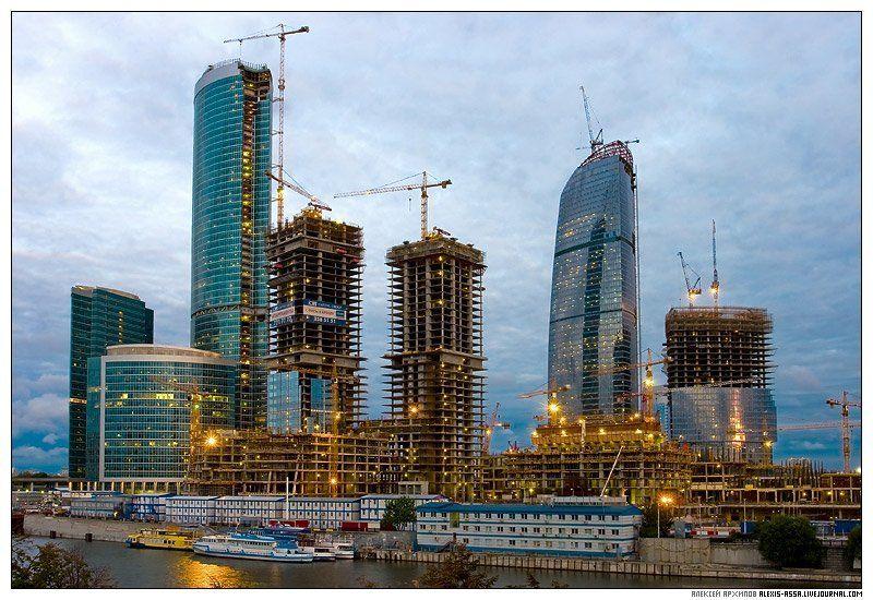 город, москва, строительство, башня, небоскреб, федерация Строительство башни \