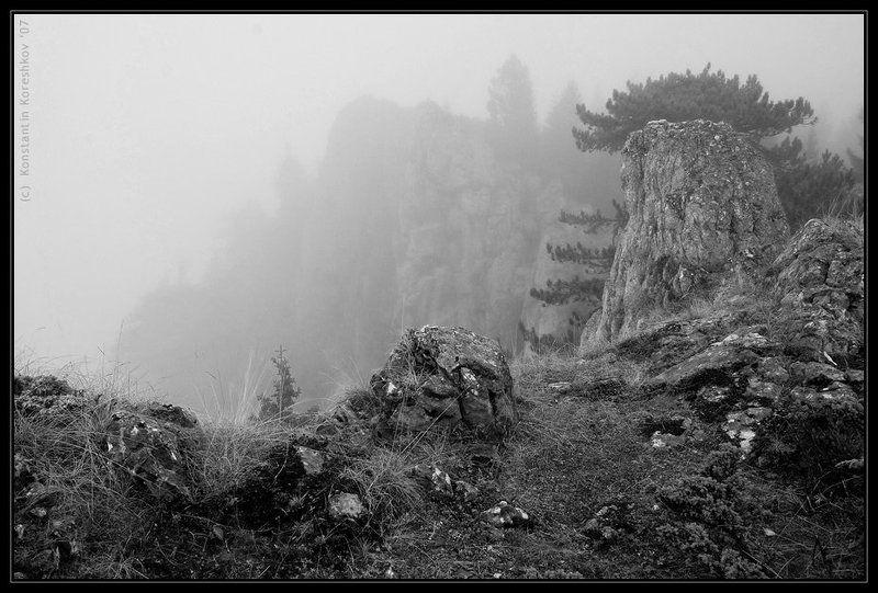 черногория, montenegro, национальный, парк, дурмитор, утес, чуровац, curovac, жаблик, durmitor, туман, fog Туманный Чуровацphoto preview