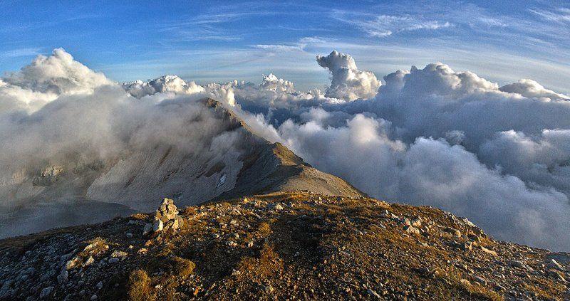 оштен, облака, вечер, закат Жить над облаками...photo preview