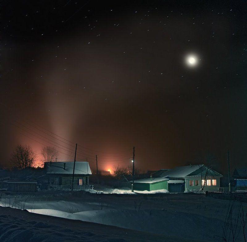 деревня, ночь, бабы, сено, баня Зимняя ночьphoto preview