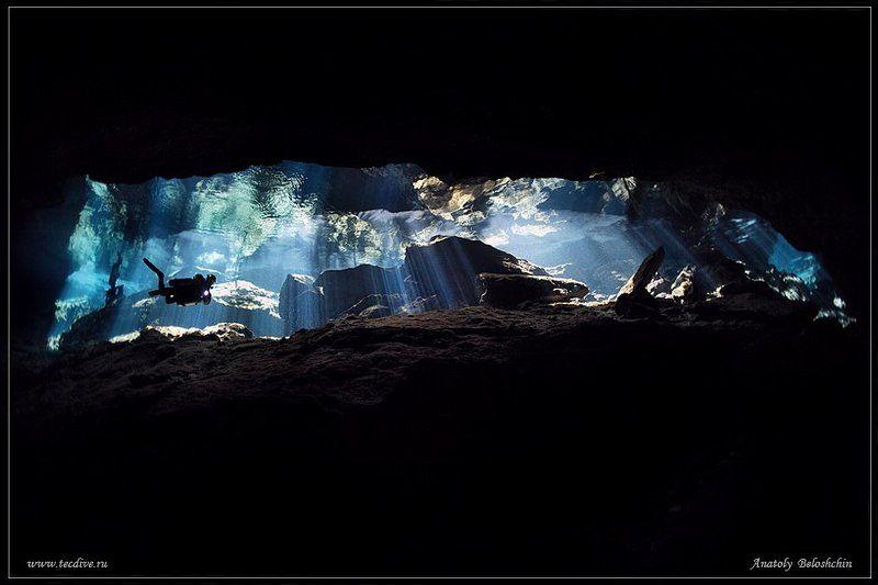 cave chac mool, anatoly beloshchin, seacam Chak Mool (подводное фото)photo preview