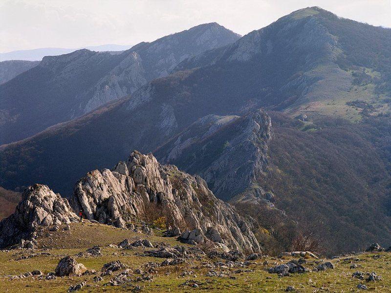 человек, горы photo preview