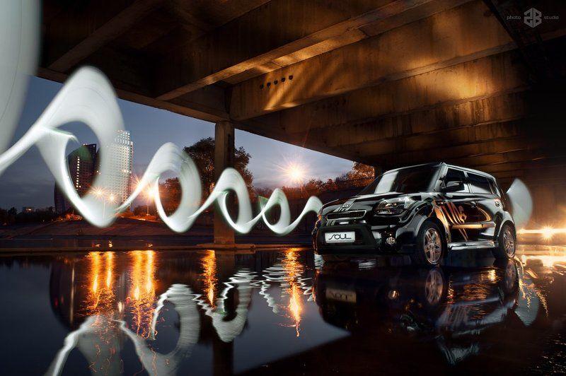 kia, soul, 2b-studio, автомобильная съемка, freezlight photo preview