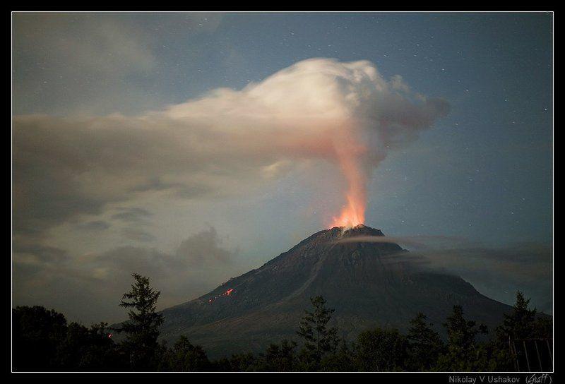 вулкан кизимен, камчатка, извержение photo preview