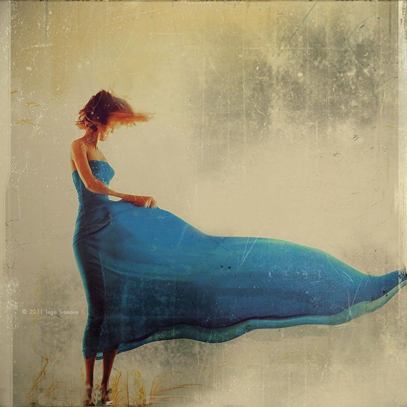 girl,dress, blue, dance,water,emotive In bluephoto preview