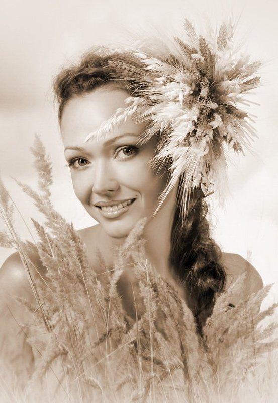 портрет, девушка урожайphoto preview