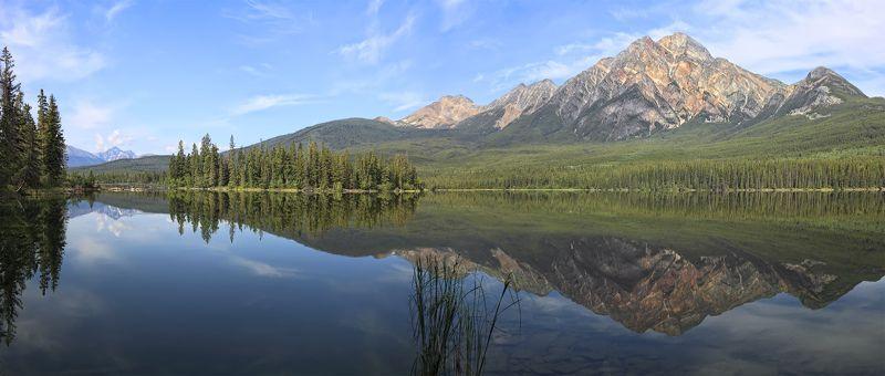 озеро, горы, отражения, лес, канада, альберта И снова отражаются в памяти моей...photo preview
