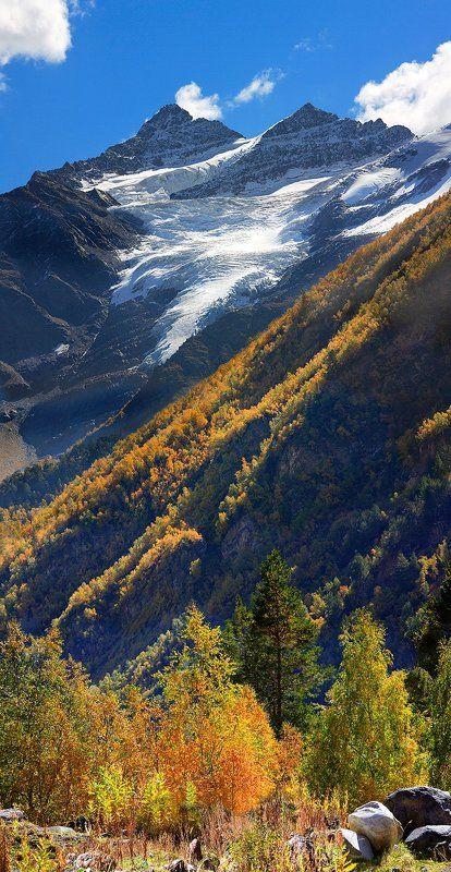 кбр, баксанское ущелье, приэльбрусье, когутай, горы, облака осень на Когутаеphoto preview